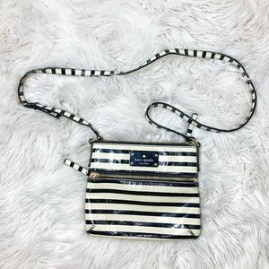 Kate Spade Flicker Tenley Black + White Bag